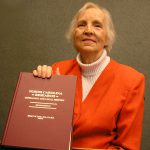 Helen F. M. Leary displays NC Research