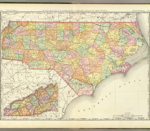 North Carolina map, Rand McNally