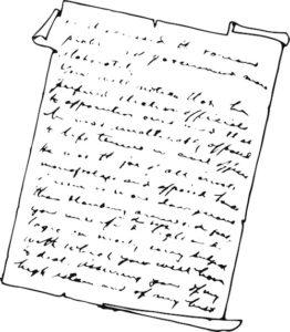 handwritten note image